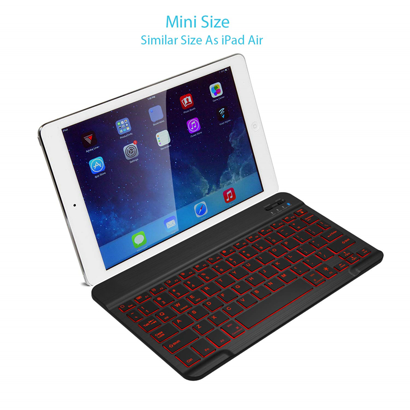 IPAD Wireless Bluetooth Keyboard Compatible IOS Android Windows Tablet Phone Backlit Ultra thin mini bluetooth keyboard 78 Keys in Keyboards from Computer Office