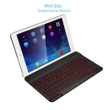 Ipad 무선 블루투스 키보드 호환 ios 안 드 로이드 windows 태블릿 전화 백라이트 울트라 얇은 미니 블루투스 키보드 78 키