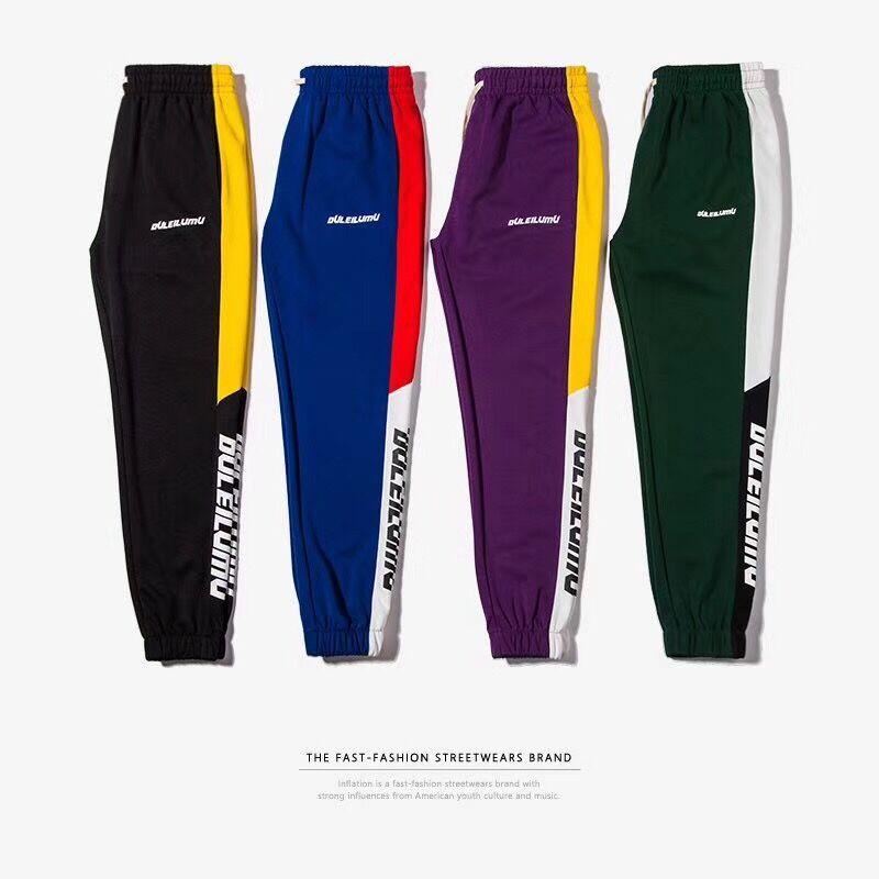 Mens Autumn High Quality 2018 Fashion Split Side Stripe