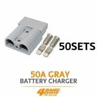 50 шт. SB50A 600 В Красный Батарея вилки терминал 1 7/8 x 1 7/16 x 5/8 W/контакты