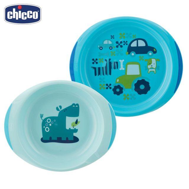 Набор тарелок Chicco 12 мес.+, 2 шт., розовый