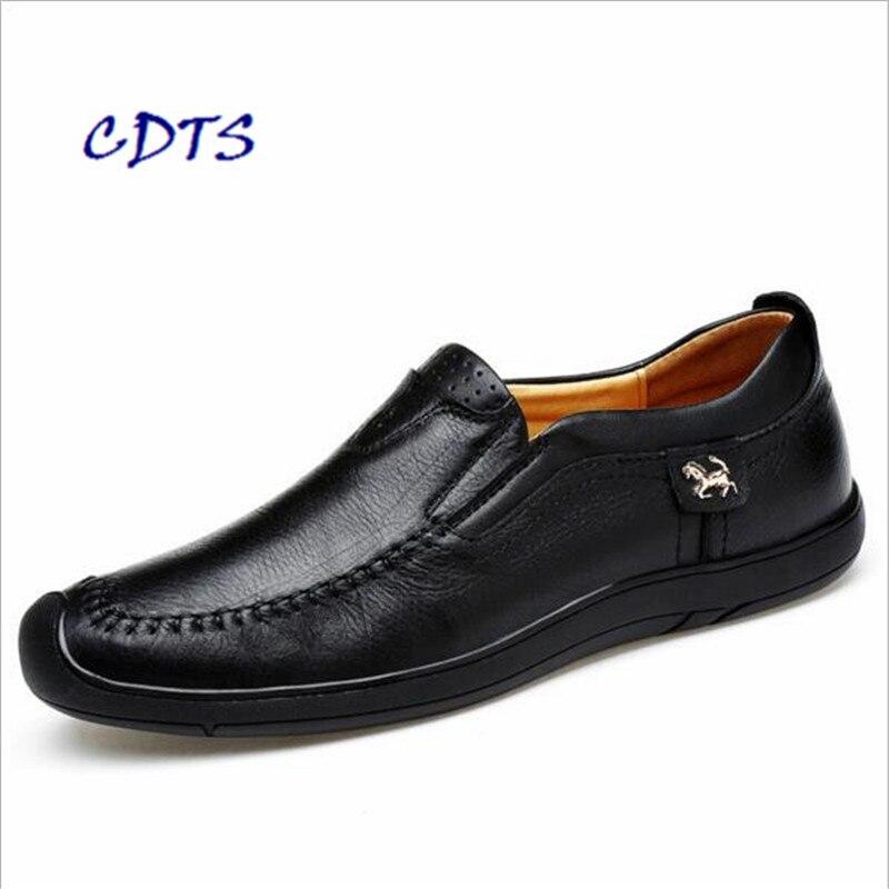 Otoño de la alta calidad de Los Hombres Cómodos Zapatos de Cuero Genuinos Mascul