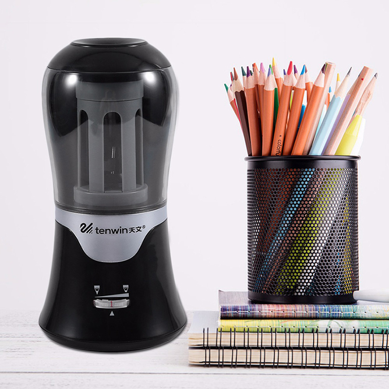 2017 New Automatic Intelligent Electric Pencil Sharpener Stationery Large Capacity High Quality Multi-Function Pencil Sharpener salter air fryer home high capacity multifunction no smoke chicken wings fries machine intelligent electric fryer