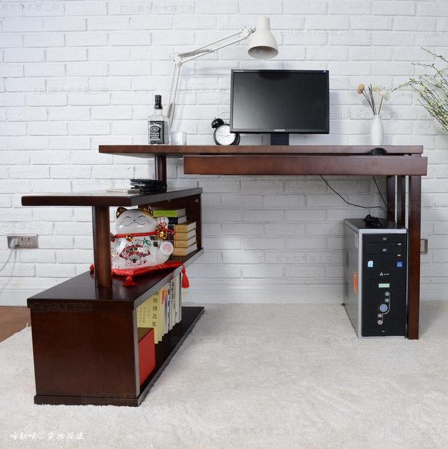 Russische Birke Ecke Home Office Desktop Computer Schreibtisch