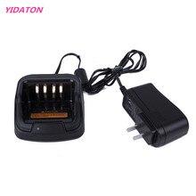 YIDATON 1 PZ Nero Palmare Radio Caricabatteria per Walkie Talkie Hytera PD700 PD780 Caricatore Due Accessori Radio Bidirezionale