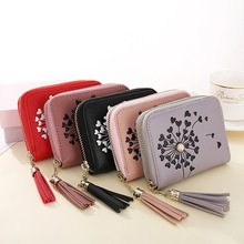 The NewWomen's wallet 2019 new small wallet purse ladies zipper mini tassel printing short wallet ladies clutch bag card package the fall of the new korean tattoo lady 80 percent off ladies purse wallet card package new wallet page 9