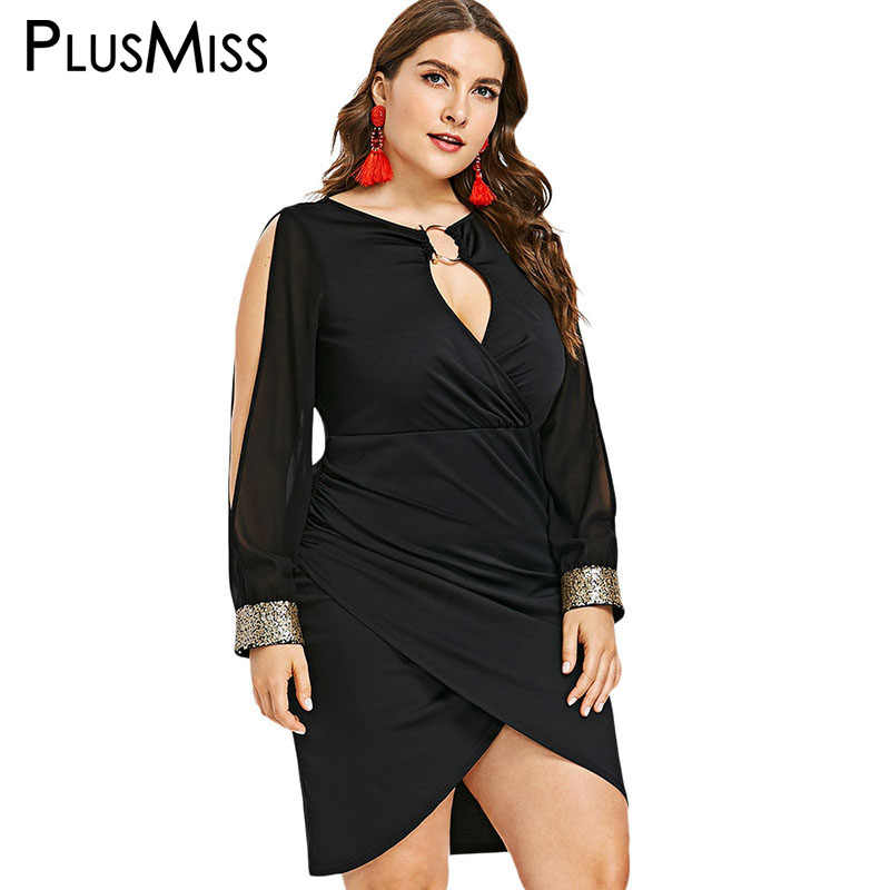 ddb648acb35e6 Detail Feedback Questions about PlusMiss Plus Size 5XL Sexy Hollow ...