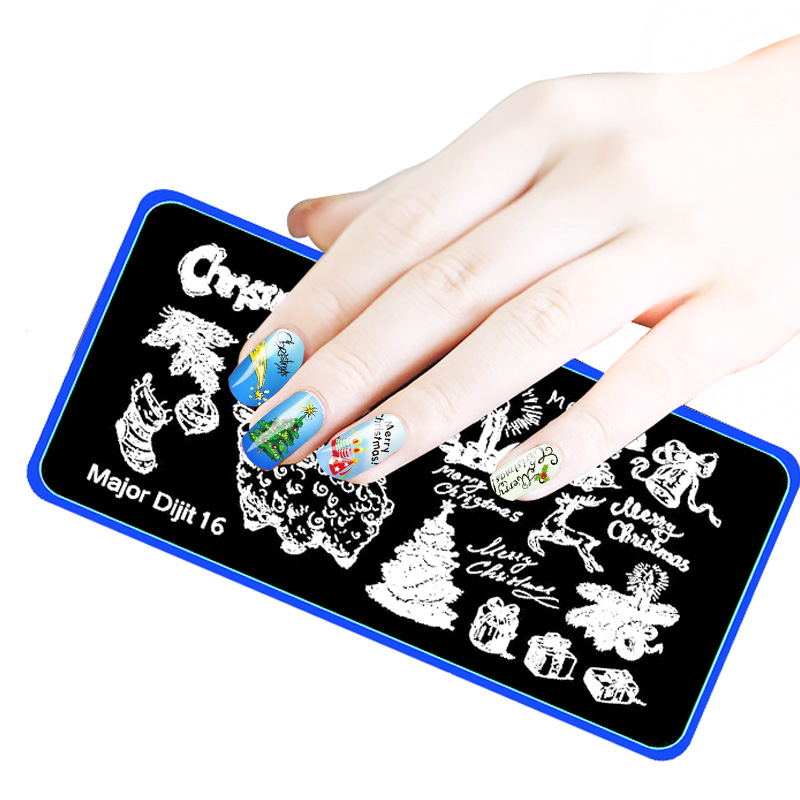 Aliexpress buy 10pcs christmas halloween 612cm pattern nail aliexpress buy 10pcs christmas halloween 612cm pattern nail stamping plates image konad stamping nail art manicure template nail stamp tools from prinsesfo Images