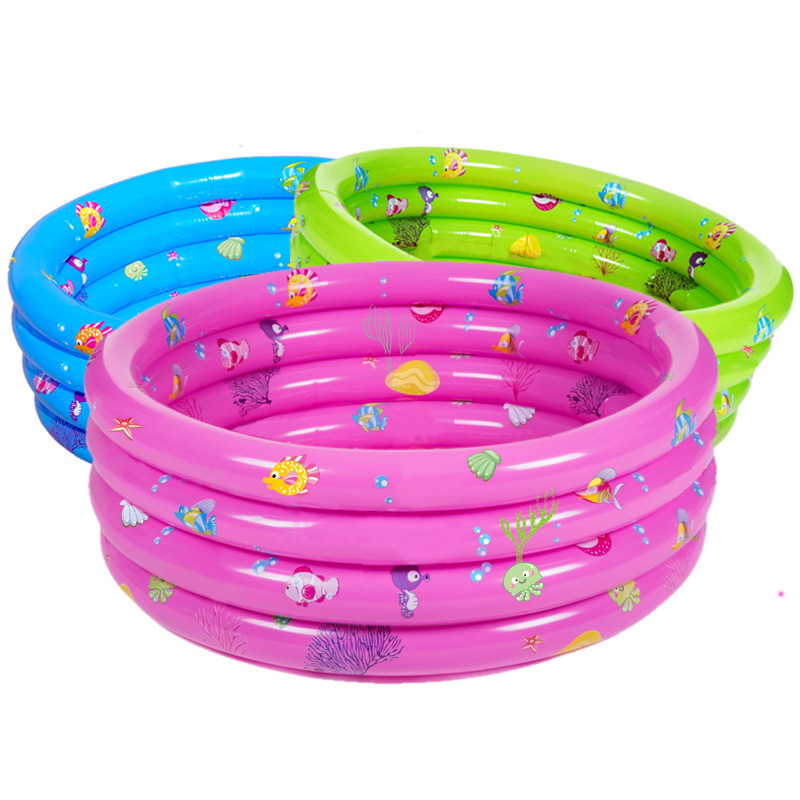150*40cm Four-ring Baby Inflatable Swimming Pool Baby Bath Pool Outdoor Ocean Inflatable Pool Children Basin Bath dual slide portable baby swimming pool pvc inflatable pool babies child eco friendly piscina transparent infant swimming pools
