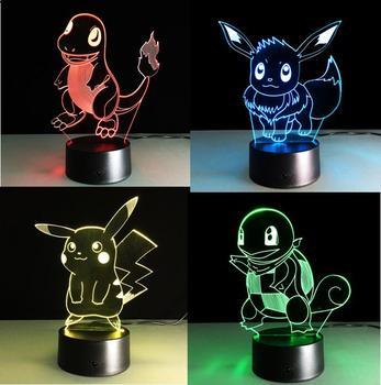 Lampe Décoration LED chambre Pokemon Go