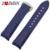 Zlimsn extremidade curva de borracha pulseiras de relógio dos homens de 22mm azul mergulhador silicone faixa de relógio pulseira de aço inoxidável buckle substituição esporte