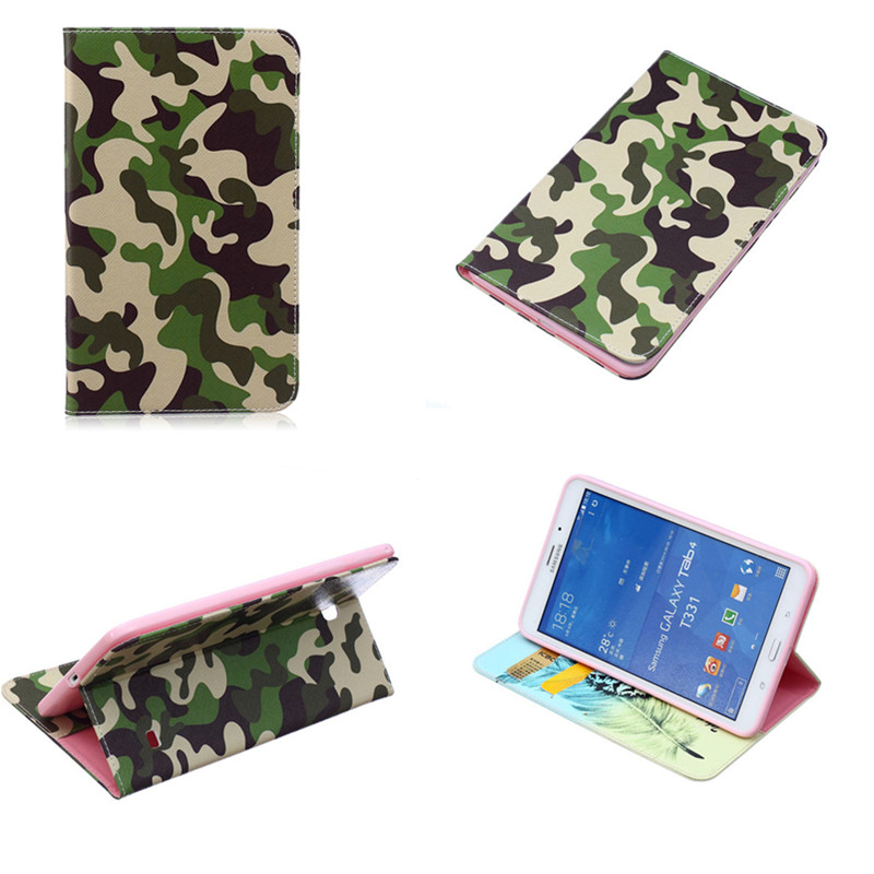 BF high quality pu leather fashion cartoon bag Cases cover For Samsung Galaxy Tab 4 8.0 SM-T330 T331 T335 Tablet Silicon case