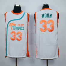 4af73f5299b7 Ediwallen Flint Tropics Semi Pro Movie Basketball Jerseys Green White Men  33 Jackie Moon Jersey All