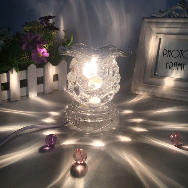 220V Creative Electric Plug Glass Aroma Lamps Office Desktop Modern Decoration Essential Oil Fragrance Burner Night Light Gifts 5