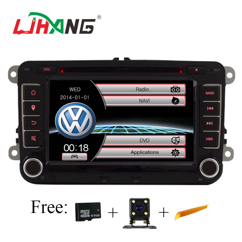 LJHANG 7 Inch Car Multimedia player 2 Din For VW POLO/GOLF /PASSAT b6/golf 5/Skoda Octavia/SEAT LEON Car Radio USB Headunit TMPS