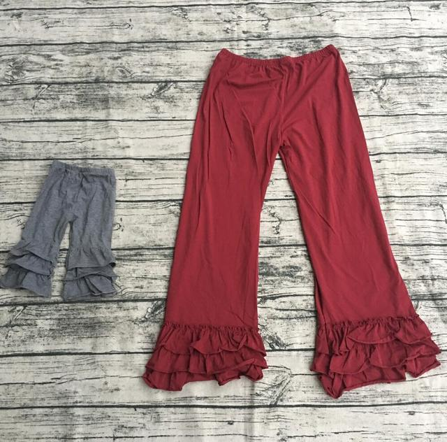 6e39c857c8a46 Birthday girls and adult fashion custom Infant plain cotton boutique icing  ruffles pants and trousers adult
