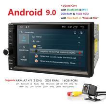 """Hizpo Quad Core 7 """"2Din Android 9.0 Auto NO-DVD Radio Multimedia Player 1024*600 di Navigazione GPS Universale auto radio Stereo Audio"""