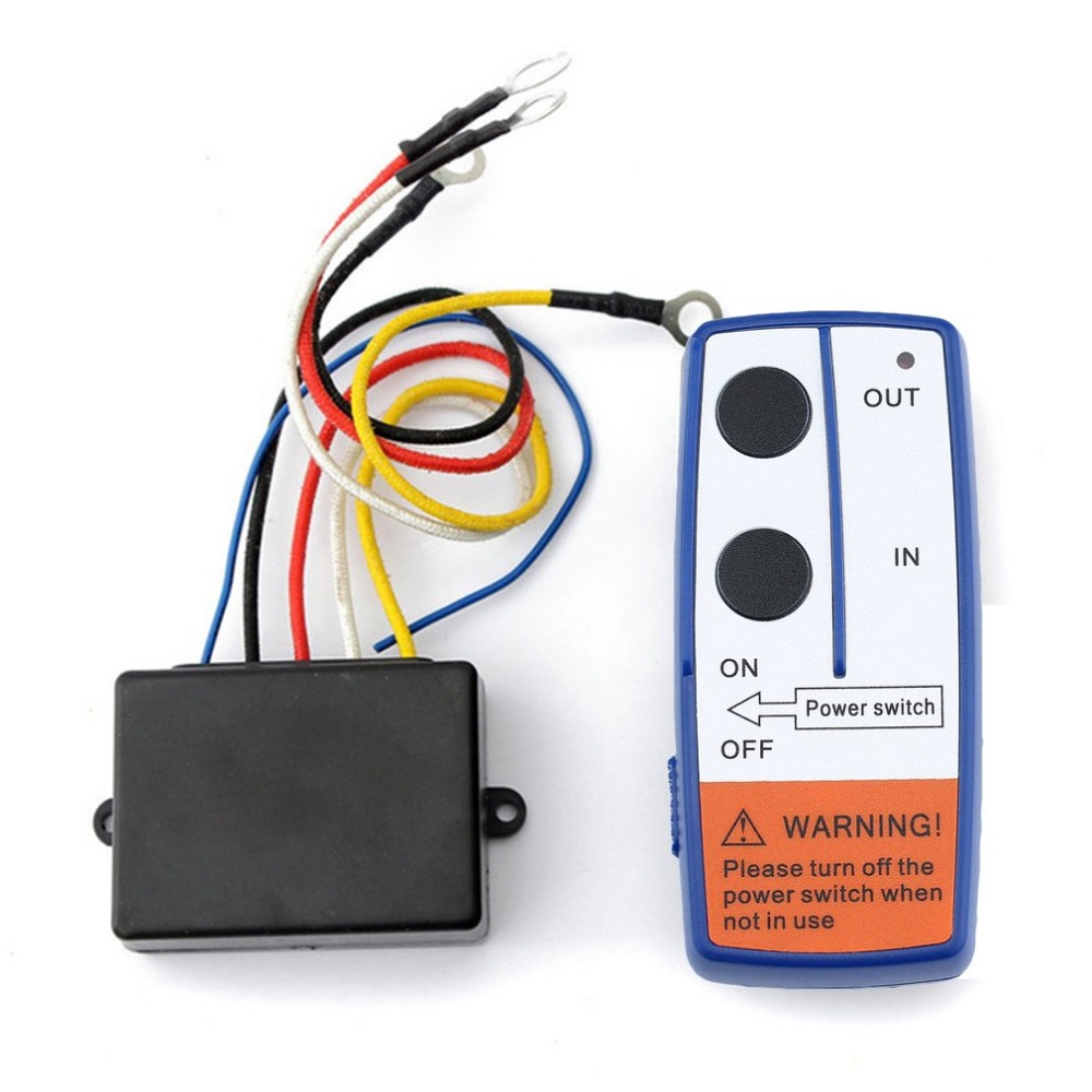 12V Wireless Remote Control Kit Blue For Car Truck ATV Vehicle Winch 50FT