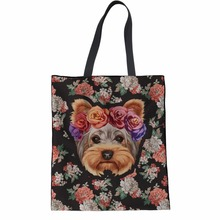 Coloranimal Fancy French Bull Dog Women Canvas Shopping Bags