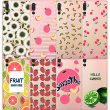 Summer Fruit Smoothie Peach Cherry lemon Banana Lemon Phone Case Fundas For  huawei p8 p9 p10 p20 lite plus