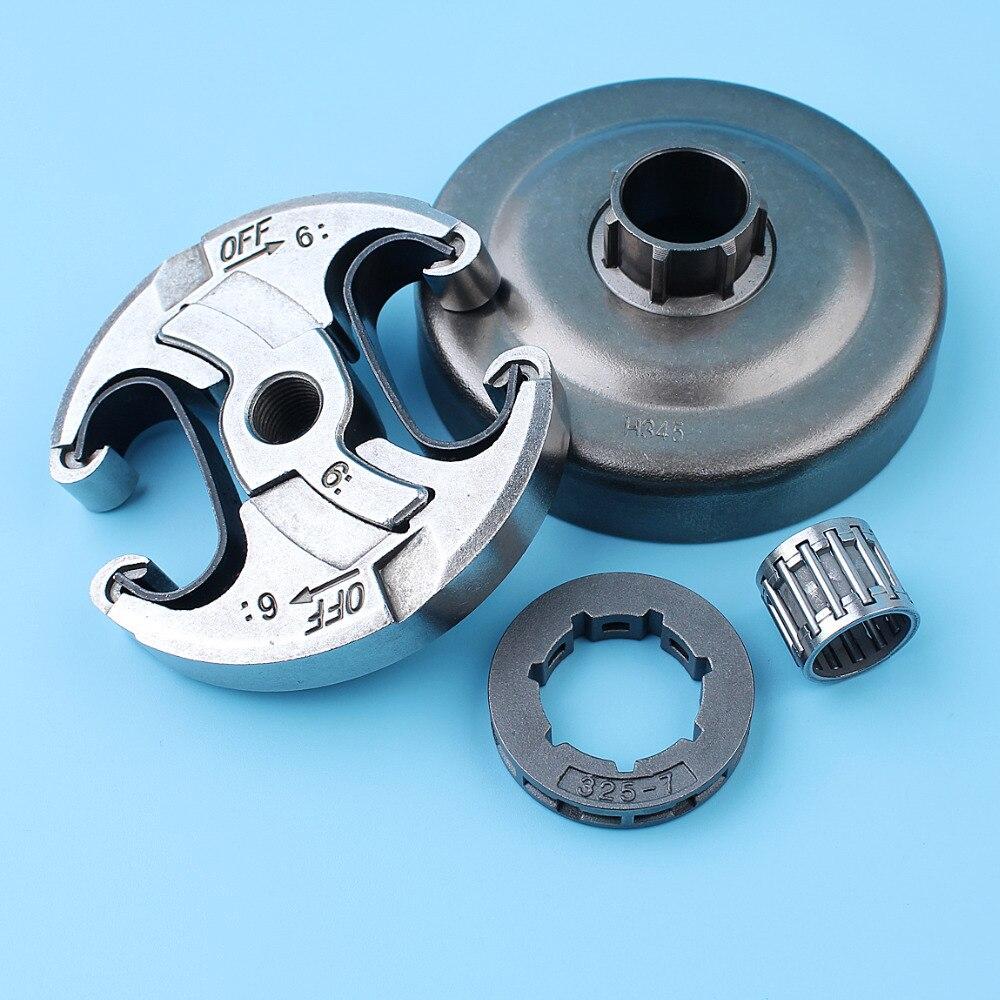 ".325""-7T Clutch Drum Sprocket Rim Needle Bearing Kit For Husqvarna 340 345 346XP 350 351 353 445 450 E Chainsaw"