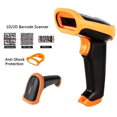 rd s5 2d pdf417 qr bar code reader barcode scanner com fio handheld scanner de