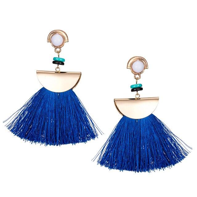 KISS WIFE 2017/Brand Drop Earrings For Women Bohemian Ethnic Big Long Tassel Earrings Wholesale Fashion Jewelry Style Earrings F 2