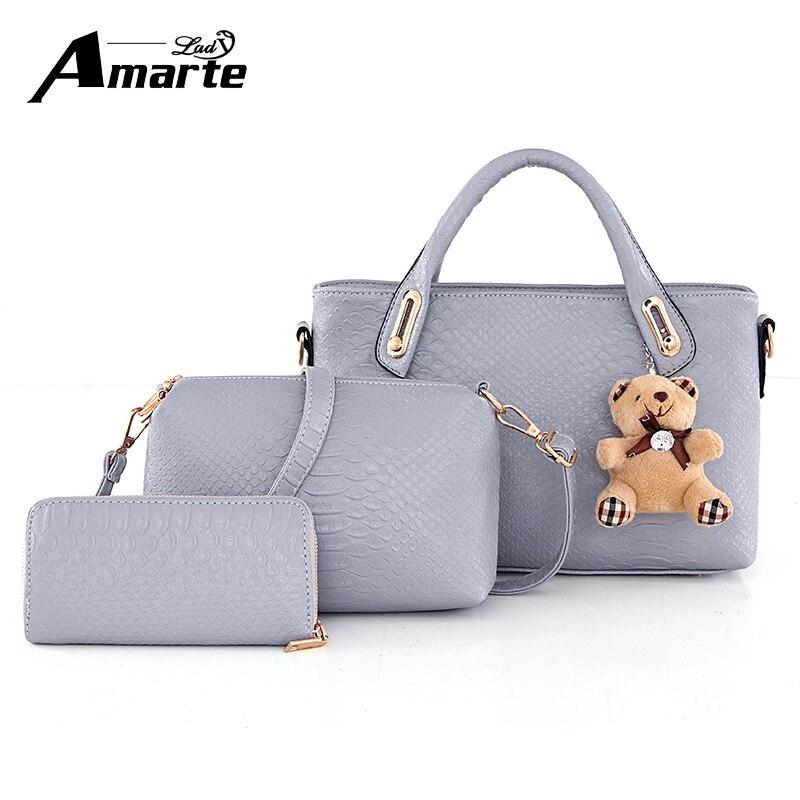Elegant Women Bag 2017 Famous Brand Top Handle Bags Fashion Womens Shoulder Bags PU Leather Purse