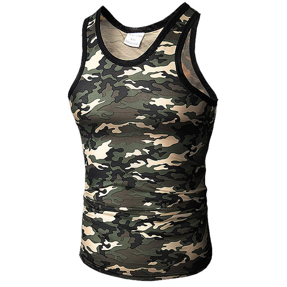 b33e30e7cc92f Men Tank Top Military Camo Camouflage Mens Bodybuilding Tank Tops Singlet  Clothing Workout Undershirt Stringer Vest