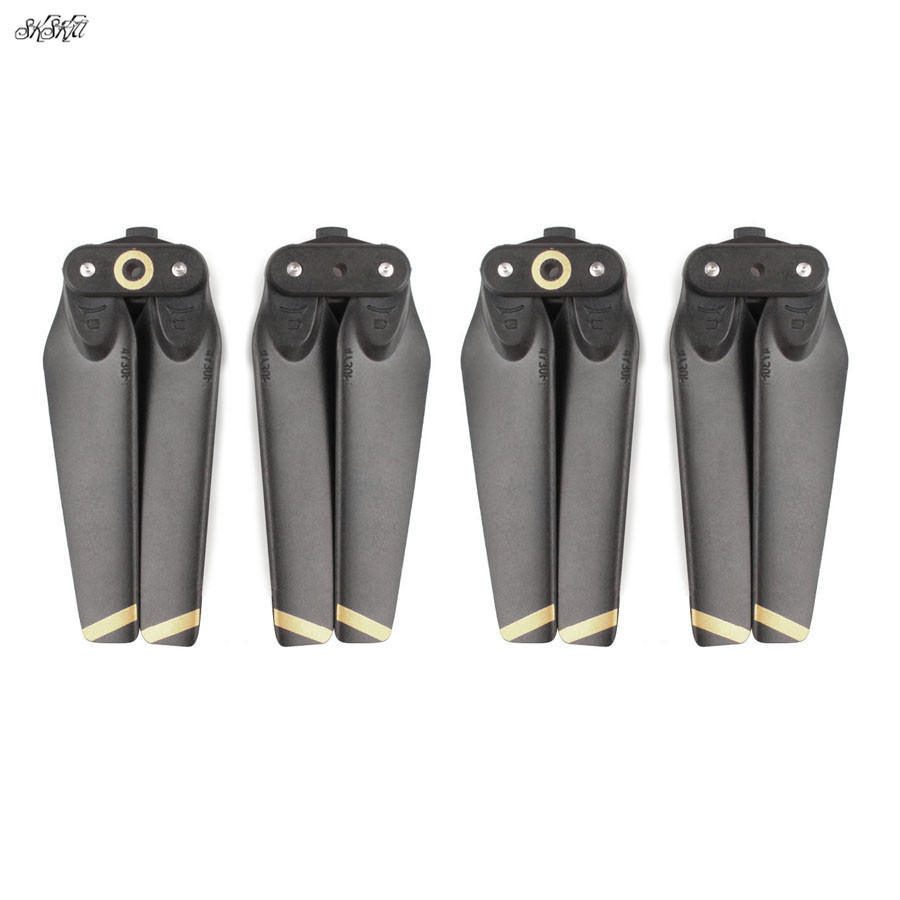 4pcs Carbon Fiber & Plastic Composite Material Enhanced Propeller Blade Prop Spare Parts For DJI Spark Drone Accessories