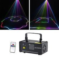 Sharelife 400mw RGB DMX Mini Laser Scan Light DJ Home Party Gig Beam Effect Projector Stage Lighting Remote Music Auto DM RGB400
