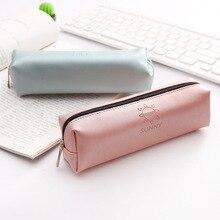 PU Leather pencil case Pink estuche escolar Kawai trousse scolaire stylo pencilcase pen case papelaria pencil