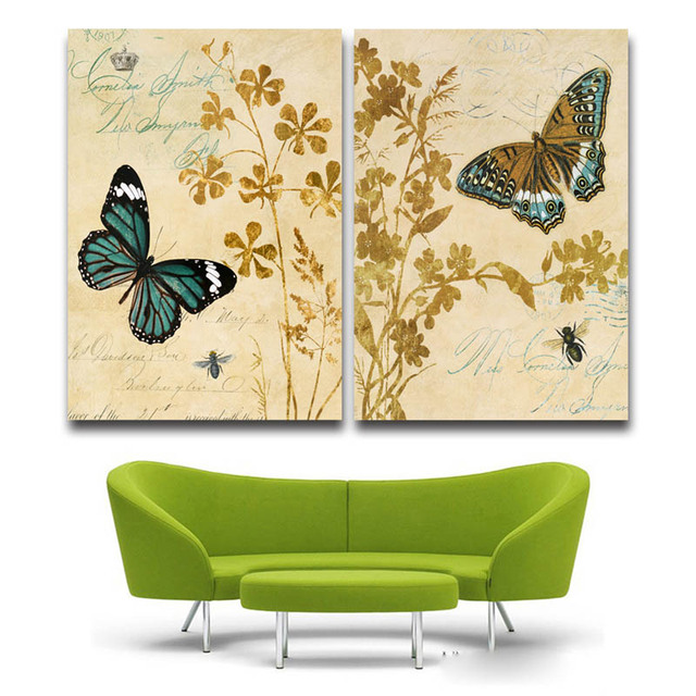 canvas printed painting butterfly Animal oil painting Has framework ...
