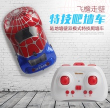 Spiderman Captain America Wall Climbing Car with flash Ceiling RC Electric Toys Anti Zero Gravity Car Newiest Remote control Car