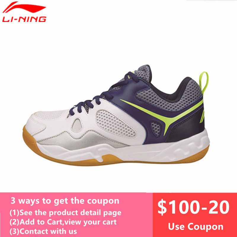 Li Ning Newest Badminton Shoes for Men Training Breathable Lining Athletic Sneaker Anti Slippery Sport Shoe