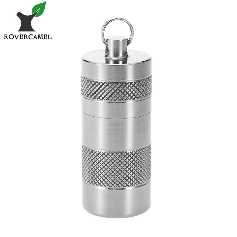Rover Camel Outdoor Camping Mini Pill Box Slip-resistant Sealed Waterproof Titanium Container Ta6105 руководящий насос range rover land rover 4 0 4 6 1999 2002 p38 oem qvb000050