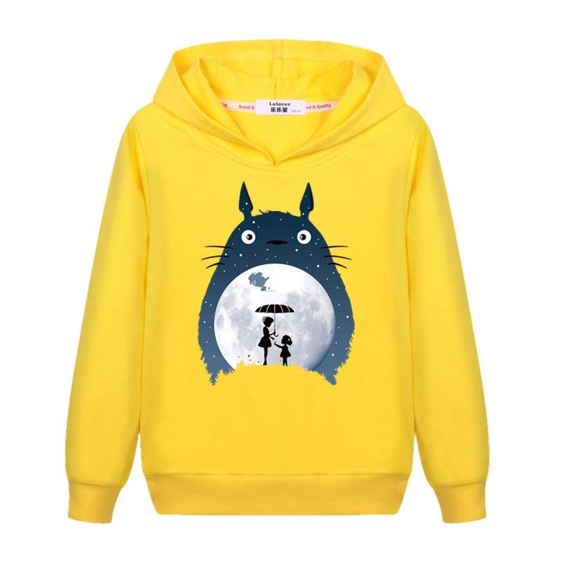 Girl's totoro Casual Sweatshirt Long Sleeve Fall Winter Hoodie Kids Fashion Cartoon pullover New Cotton Coat 3