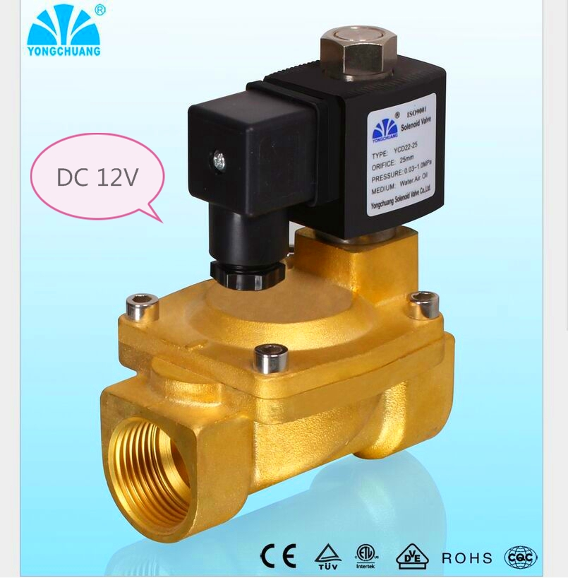 DC 12V Normally Open N/O 2 Way Pilot Solenoid Valve15mm Water Steam Oil Solenoid Electric Valve