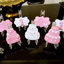 Мини стойка для тортов, 10 шт./упак., полка для печенья, украшения для свадебных конфет, печенья, вечерние товары для дня рождения, Детская фотополка для душа