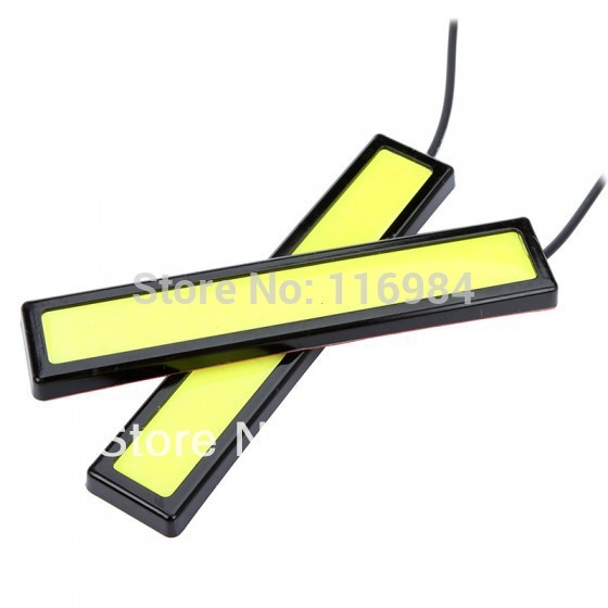 2PCS x High-quality Black frame 14cm COB DRL LED Daytime Running <font><b>Light</b></font> Fog car <font><b>lights</b></font> image