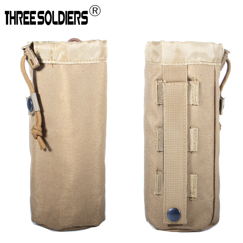 Tactical Military Multicam Molle System Water Bottle Bag Outdoor Sports Camping Hiking Travel Kits Survival Kettle Pouch Holder