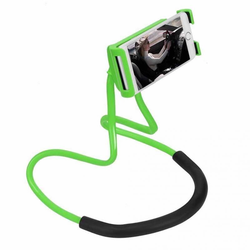 Lazy Phone Holder Hanging Neck Phone Stands Necklace Cellphone Support Bracket Bracket Universal 360 Flexible Smartphone Holder