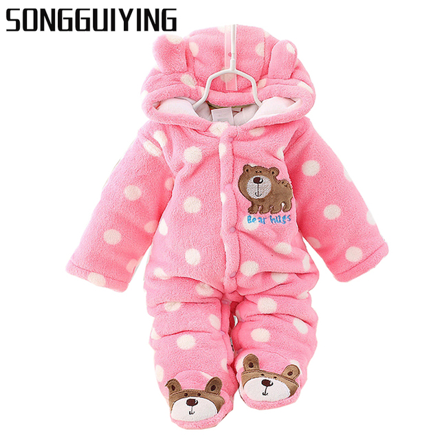 3ce75fd2cf40 SONGGUIYING A02 Newborn Baby Boy Clothing Fleece Winter Girl Romper ...
