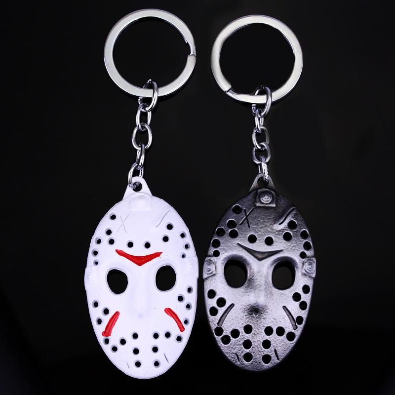 Black Friday Mask Keychains 3 color White Jason Hockey Personal Mask Keyring