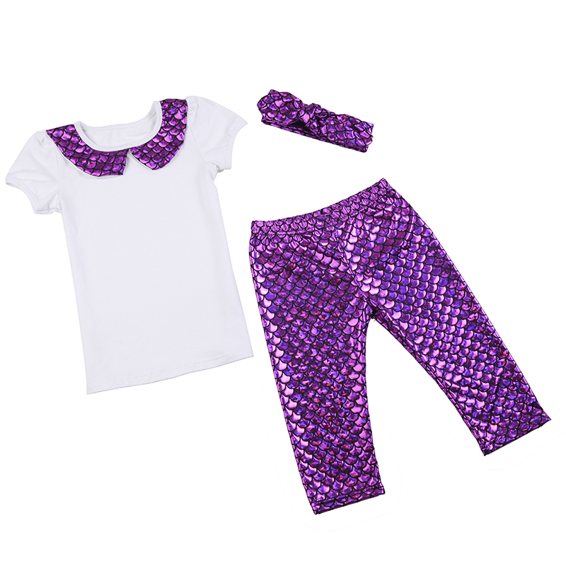 Mermaid Outfit First Birthday Baby Girl Shorts Shirt 1st