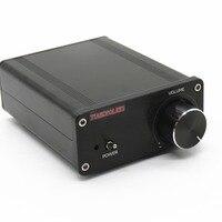 TIANCOOLKEI mini TDA7498 200w Ultra high power Hifi Audio Digital Power Amplifier 100W+100W Home Audio video Amplifiers black
