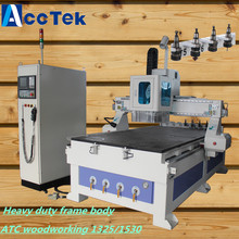 Great power spindle wooden door design cnc router machine, cheap price cnc machine center atc