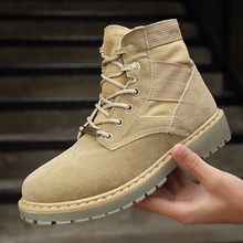 Work Shoes Men Outdoor Combat Military Male Shoes Waterproof Desert Martin Boots Man British Fashion Winter Ankle Cotton Boots tojamo men army military boots high quality motorcycle boots winter desert hunt male combat boots man botas martin men shoes