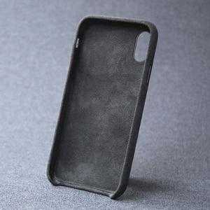 Image 3 - 케이스 아이폰 7 8 플러스 x xs 맥스 xr 럭셔리 이탈리아 스웨이드 패브릭 커버처럼 downy leather capa 프리미엄 쉘 쉘
