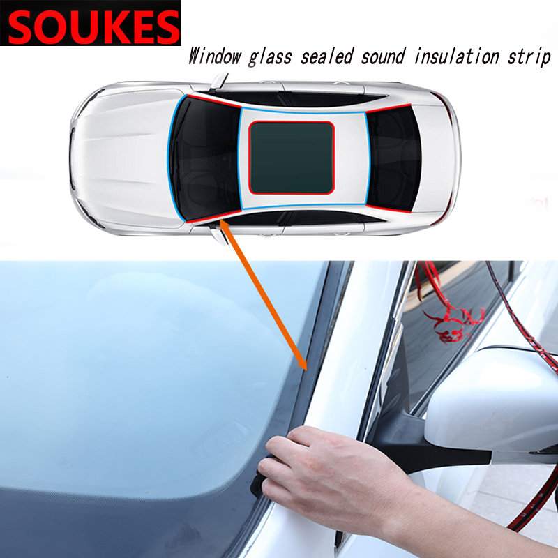 100cm Car Front Rear Window Windshield Soundproof Seal Strip For Audi A4 B7 B5 A6 C6 Q5 A3 Honda Civic 2006-2011 Fit Accord CRV image